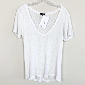 Rails   basic white t-shirt v-neck short sleeve XS